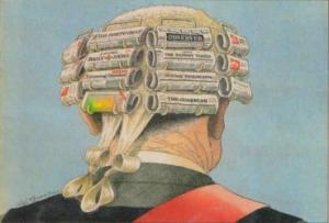 Paperback Intellectual --  Graphic courtesy: Peter Brookes / The Spectator / London / 1989