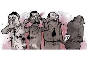 """அயோக்கிய திராவிடப் பாவிகள், சாதா தமிழப் பொது மக்களுக்கும் ஊற்றிக் கொடுத்து, பிச்சை இலவசங்களை அளித்து, ஓட்டுக்கு லஞ்சம் கொடுத்து, ஒர் பெரும் மக்கள்திரளின் ஆன்மபலத்தையே ஒழித்துவிட்டார்கள்! நாம் உருப்படுவோமா? (படம் <a href=""""http://globalasiablog.com/2014/06/04/indonesias-corruption-problem-feathering-ones-own-nest/"""" target=""""_blank""""><strong>இங்கிருந்து</strong></a>)   --  (கவனிக்கவும் - மூன்று மந்திகளானவர்கள் தமிழ ஊழல்மந்தைகளைத் தான் சித்திரிக்கின்றனர் - பணம் கொடுப்பவர்கள் திராவிடத் தலைவர்கள். சரியா?)"""